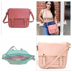 Toasted Almond or Strawberry Ice Square Crossbody